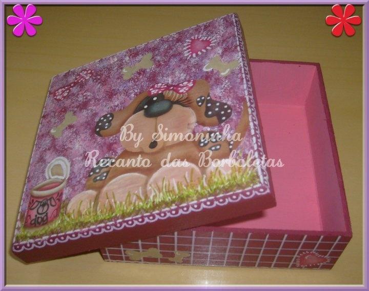 Caixa Infantil Rosa e Bordô