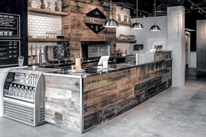 Retail Display Counters Ideas Retail Display Counters Ideas Design Ideas And Photos Rustic Coffee Shop Juice Bar Design Coffee Shop Decor