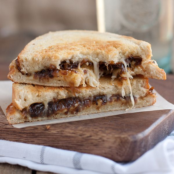 French Onion Grilled Cheese Sandwich. I am salivating just looking at it!
