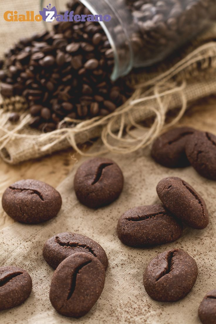 Biscotti Chicco di caffe. Coffee bean cookies. Recipe and photo tutorial