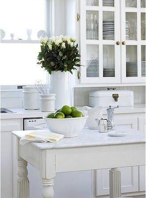 White kitchen, love