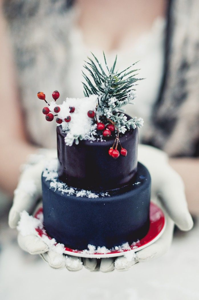 Mini winter inspired wedding cakes by @Christina Childress McKenzie at Cocoa Cakery  Photo credit: www.samanthaerinphotography.com/blog