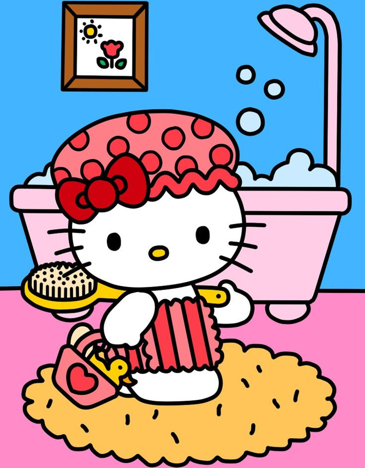 Hello Kitty Go to Bathroom (Coloring Book) by Kittykun123.deviantart.com on…
