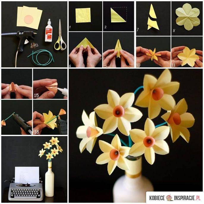Wiosenne kwiaty z papieru - Kobieceinspiracje.pl