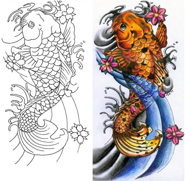 Ms de 25 ideas increbles sobre Tatuaje pez koi en Pinterest