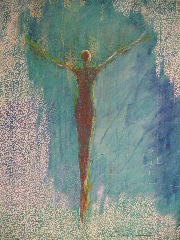 Åse Margrethe Hansen/Oppdrift. Oil pastel on paper, 2006