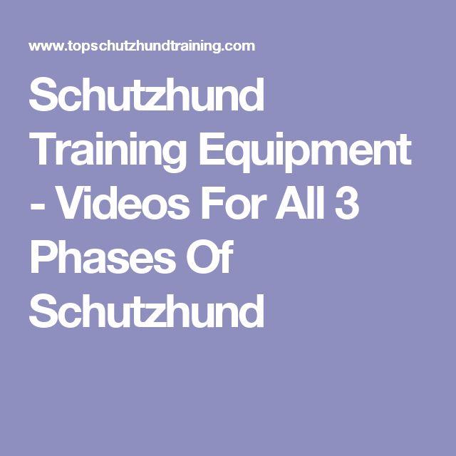 Schutzhund Training Equipment - Videos For All 3 Phases Of Schutzhund