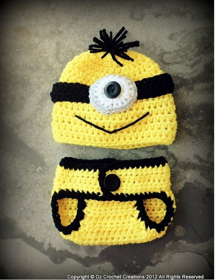 A baby Minion outfit!  Just adorable!