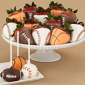 Gift for the guy in your life - 3 Sports Cake Pops & Full Dozen Sports Berries - Sherris Berries