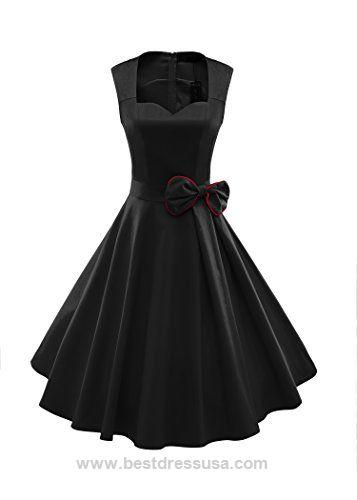 ILover Women's 1950s Style Vintage Rockabilly Swing Bow-knot Party Dress  http://www.bestdressusa.com/ilover-womens-1950s-style-vintage-rockabilly-swing-bow-knot-party-dress/