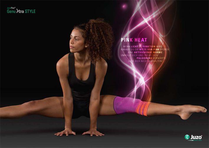#sport #fashion #neon #style #kneesupports #reddotdesignaward #kniebandage http://www.juzo.com/xtrastyle/index.html