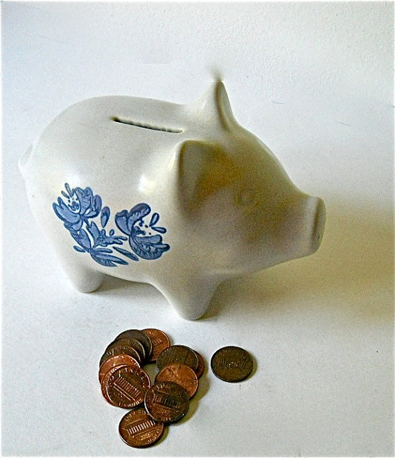 16 vintage piggy bank pfaltzgraff - Pfaltzgraff Patterns