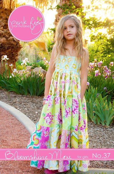 Bloomshine Maxi Dress for Girls PDF - K would LOVE