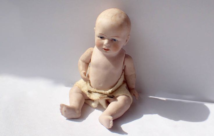 """Vintage porcelain//bisque open hands arms 2/""""  unpainted baby//toddler doll parts S"""