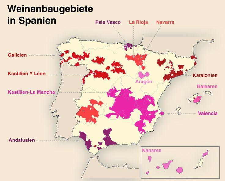 Spanien führt weltweit die Liste der größten Weinanbaugebiete an. Und spanischer Wein kann es heute locker mit den großen Weinen anderer Länder aufnehmen...  http://www.weinbilly.de/weinwissen/spanischer-wein