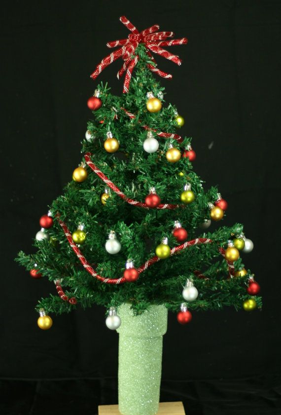 Mini Christmas Tree For 3 Inch Cemetery Vase By Crazyboutdeco