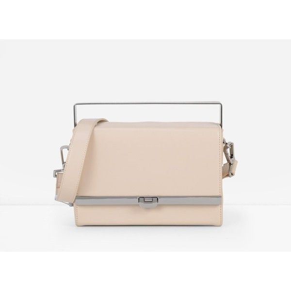 CHARLES & KEITH Metallic Handle Clutch (80 CAD) ❤ liked on Polyvore featuring bags, handbags, clutches, nude, metallic handbags, top handle purse, nude purses, metallic clutches and metallic purse