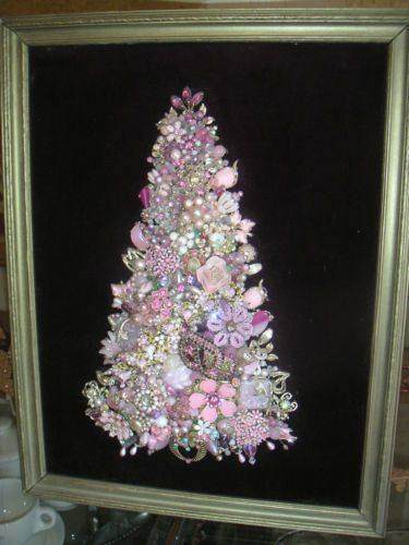 Make Costume Jewelry Artwork Collage For Your Wall Jewelry Tree