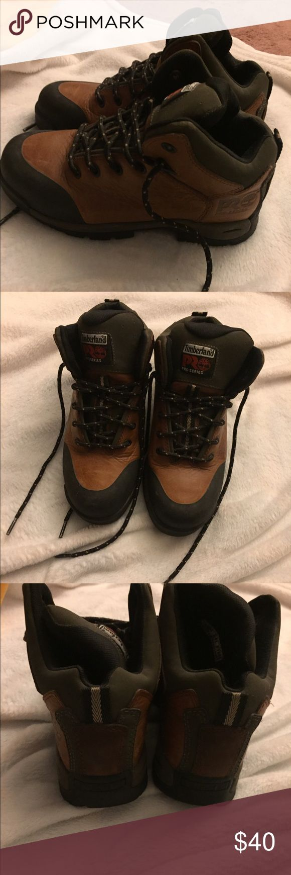 Timberland hiking boots Never worn, only tried on! Comfy hiking boots! Timberland Shoes Lace Up Boots