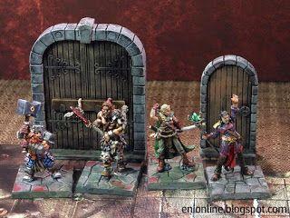 Heroes in action - Dungeon Saga painted miniatures ~ Enionline Alternative Worlds #28mm #dungeondsaga #dungoensanddragon #d&d #miniature #heroes #painting fantasy