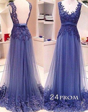 Encaje Escote redondo largo vestido de fiesta, vestido formal 239.99 Dls