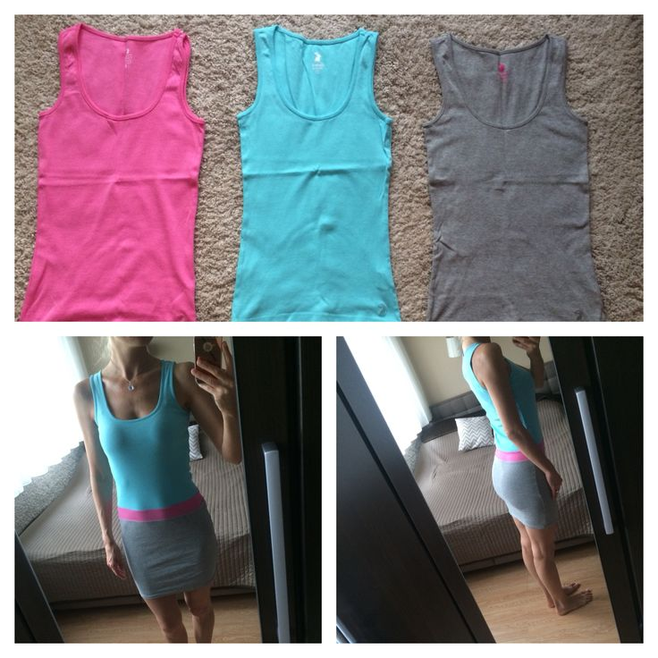 Trikókból nyári ruha varrása  Color-blocked dress sewing from three tank tops