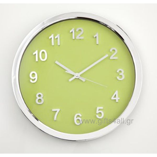 A beautiful wall clock in greek colour from Brandani for the kitchen or for living room. The diametre of the clock is 33cm