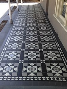 Tessellated Tiles In 2019 Terrace Tiles Patio Tiles Victorian Tiles