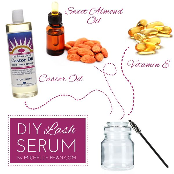 DIY Eyelash Serum...i have used castor oil for eye brows and mine went from bare minimum to lush...so will try this for eyelashes