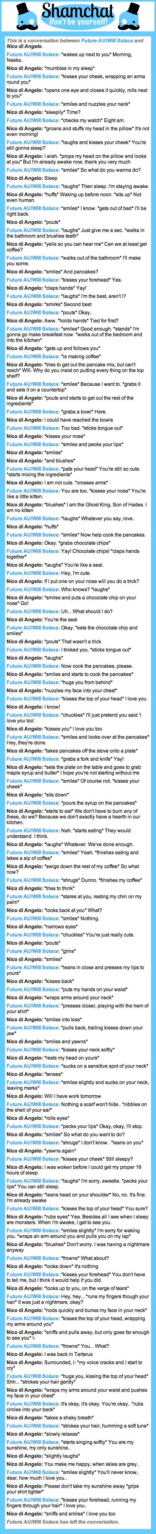 A conversation between Nico di Angelo and Future AU!Will Solace