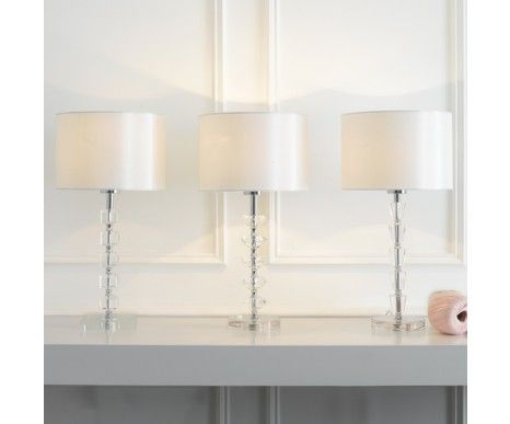 Chloe Crystal Table Lamp With White Fabric Shade $79.96 (20% off)