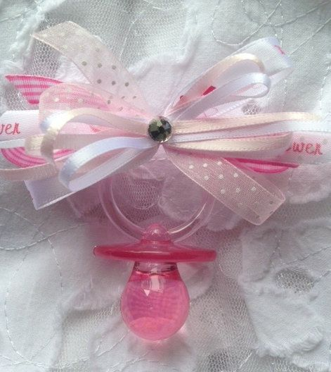 12 Baby Shower Pins Guest Corsages Pink By Designsbyflores On Etsy