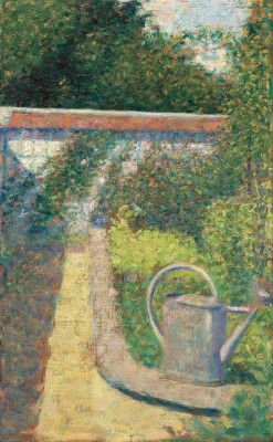 Seurat, Georges French, 1859 - 1891 The Watering Can - Garden at Le Raincy c. 1883