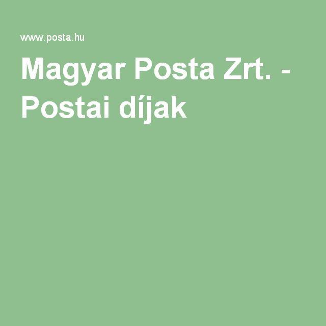 Magyar Posta Zrt. - Postai díjak