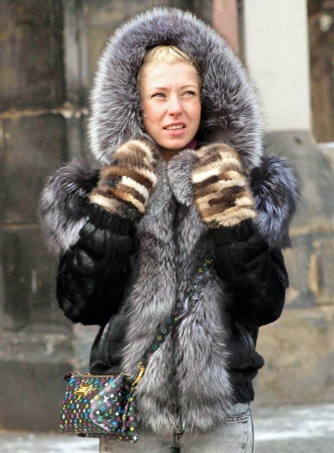 Garment fur hood fetish