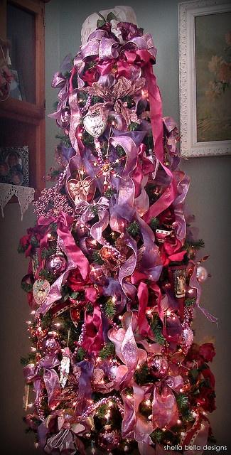 Super skinny Christmas tree - one of my favorites!