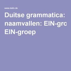 Duitse grammatica: naamvallen: EIN-groep