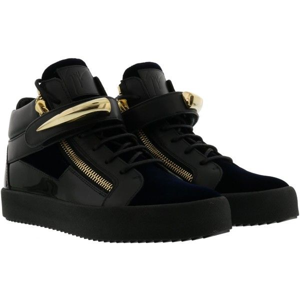 Giuseppe Zanotti May London Sneakers ($750) ❤ liked on Polyvore featuring shoes, sneakers, navy, giuseppe zanotti, giuseppe zanotti sneakers, giuseppe zanotti trainers, navy blue sneakers and giuseppe zanotti shoes