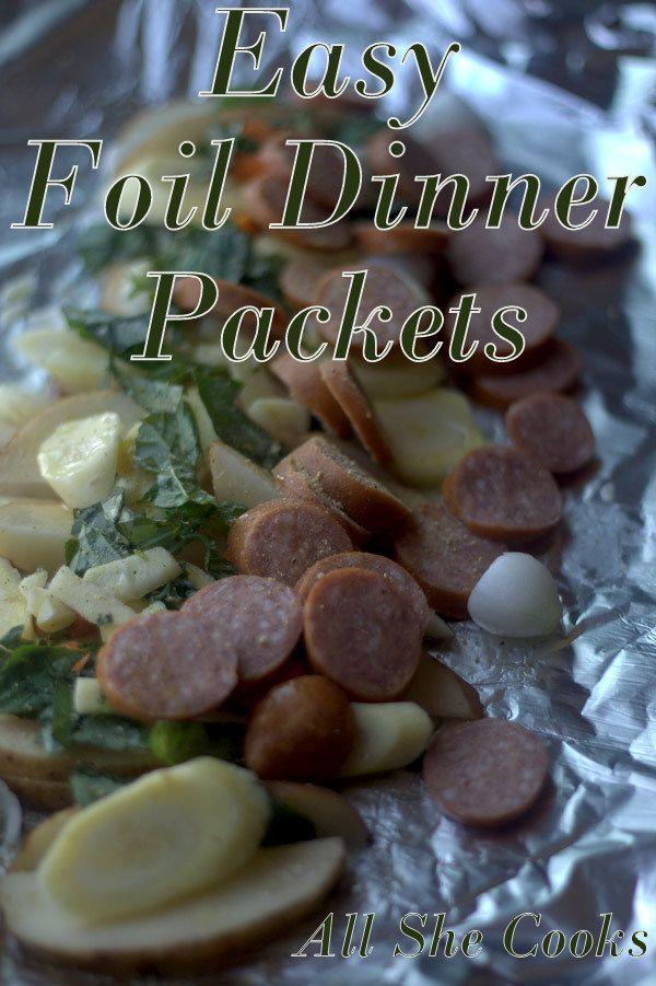 Foil Dinner Packets- Easy Dinner Ideas