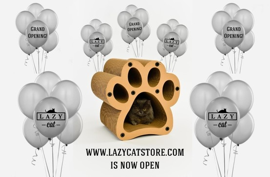 WWW.LAZYCATSTORE.COM - NOW OPEN! COME VISIT US & PLEASE HELP SPREAD THE WORD!