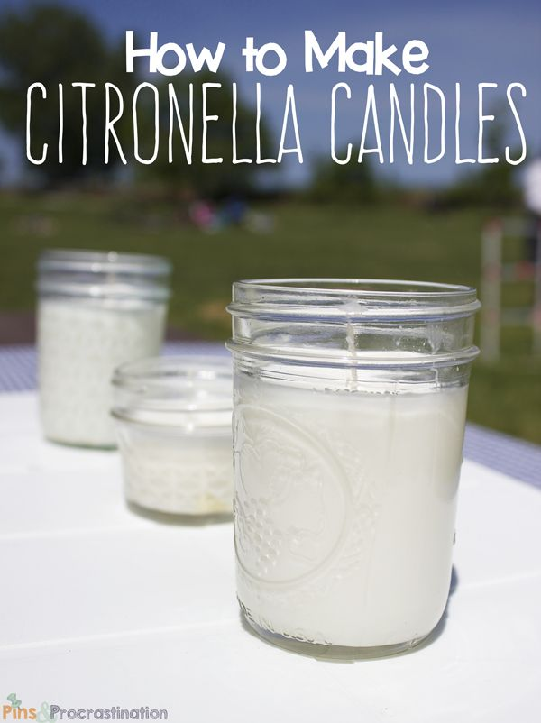 Bugs driving you crazy? Make these easy DIY citronella candles to keep them away!
