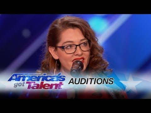 Mandy Harvey: Deaf Singer Earns Simon's Golden Buzzer With Original Song - America's Got Talent 2017 - YouTube