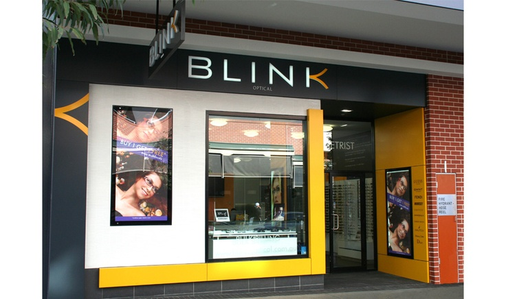 Corporate signage solutions for Blink optical using Alucobond cladding shopfront signage by Singleton Moore Signs www.smsco.com.au