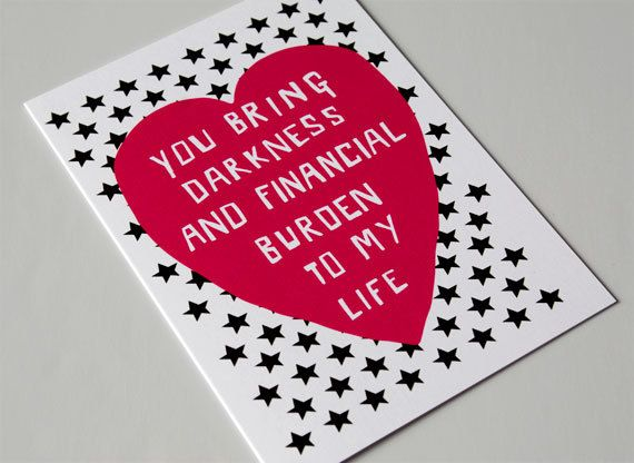 Funny Romantic Card  Valentine Card  Relationship  Dark by LIKKS, £2.75