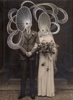 "kirjontaa valokuvalle. ""I will be with you the night of your wedding"" Maurizio Anzeri, 2013"