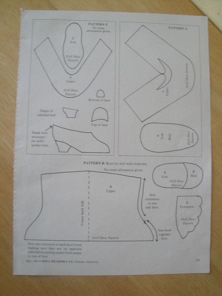 Antique Doll Shoe Patterns Heels Boots Socks Stocking Magazine   eBay