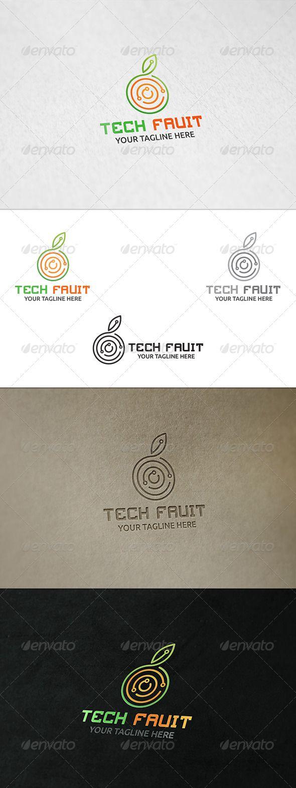 Tech Fruit  - Logo Design Template Vector #logotype Download it here: http://graphicriver.net/item/tech-fruit-logo-template/8539642?s_rank=1400?ref=nexion