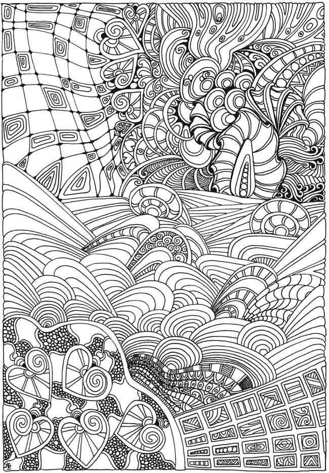 Coloring Book Pages From Photos : Now the doodling dreams of grown ups worldwide have come true with