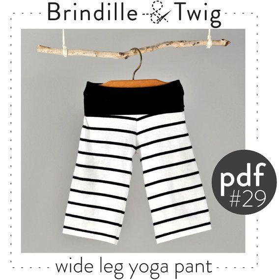 Wide Leg Yoga Pants Sewing Pattern // Photo Tutorial