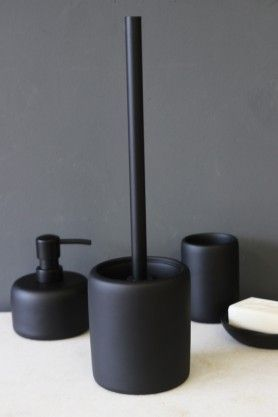 Black Toilet Brush Holder